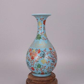 Jingdezhen Antique Enamel Vase Yongzheng Year Mark Vases antique vintage decoration