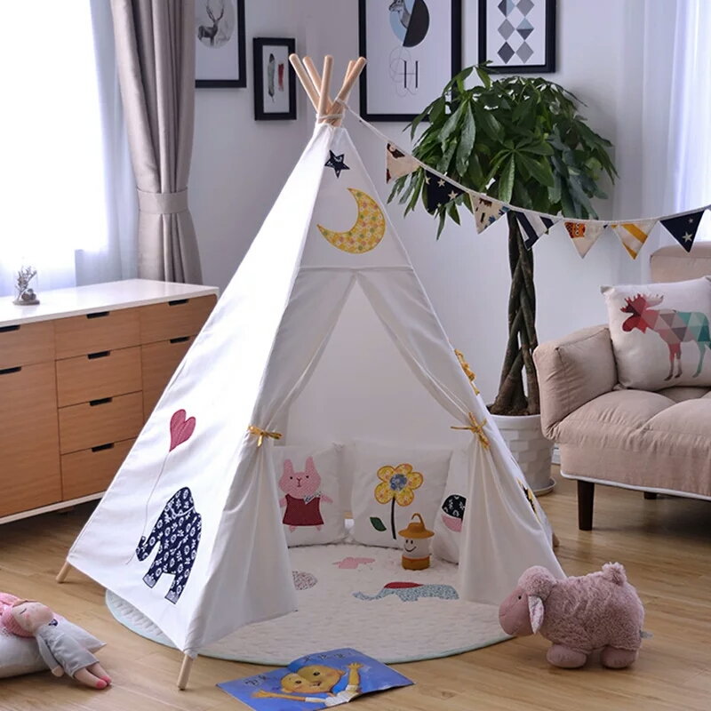 5-Pole Kids Play Indian Teepee Tent Tipi Tent Wigwam Tent free shipping kid tent indian teepee tents