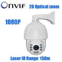 2.0MP 1080P IP PTZ high speed dome 20X Zoom Outdoor 150m IR Laser Network IP Onvif Security cctv surveillance Camera