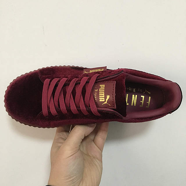 2fe93012f7cfa Puma shoes puma Velvet thick soled platform shoes Shoes for men and women  velvet red size 36 44-in Badminton Shoes from Sports & Entertainment on ...