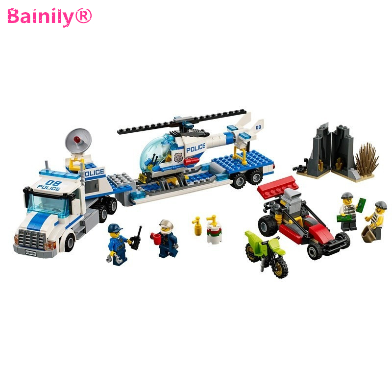 [Bainily] 410pcs Urban City Police Force Truck City Building Blocks Toys Gifts for Children police pl 12921jsb 02m