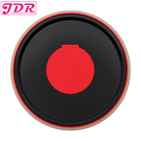 JDR Drum Practice Pad Bongo Percussion Mute Pad Rack Drum for Combat Practicing Rhythm Playing Tambourine Music Instrument