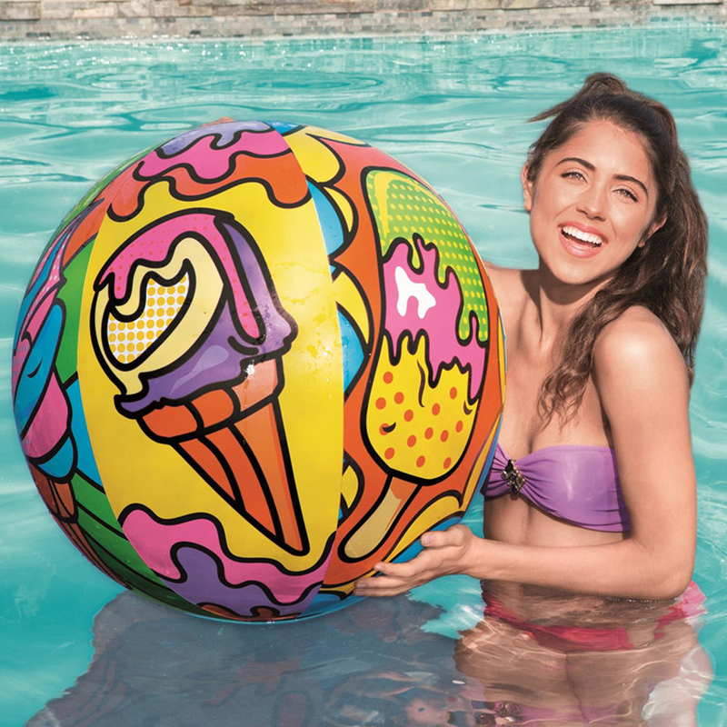 24'' Beach Ball Pool Water Ball Inflatable Beach Party Ball Summer Swimming Pool Water Balloons Beach Sport Ball Fun Float Toys