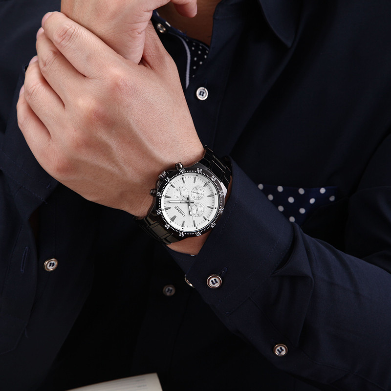 CURREN 8063 Men Business Quartz Watches Top Brand Luxury Military Wristwatches Stainless Steel Sports Relogio Masculino KREa16 шахматы uncle wang 8053 8063 8063 8053