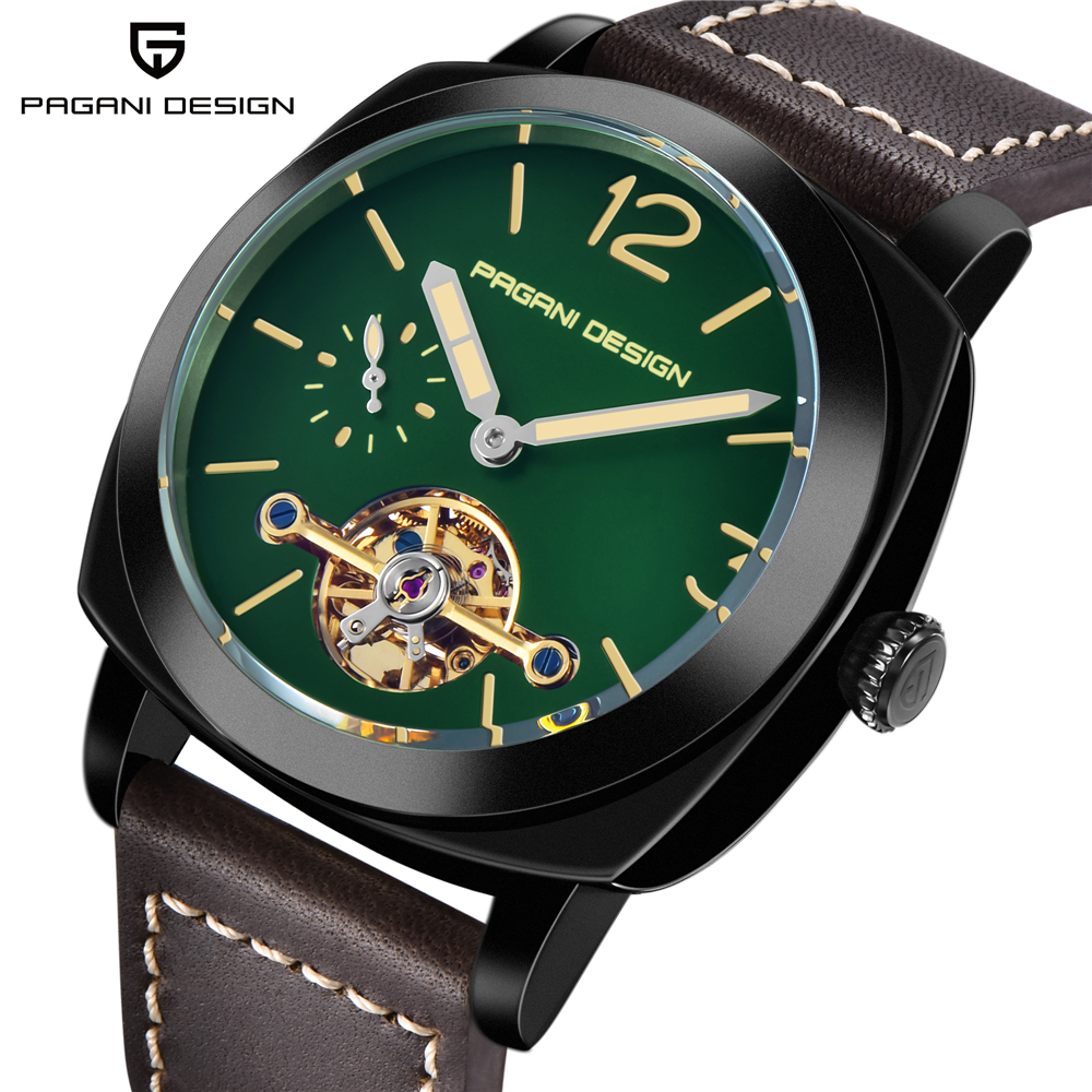 PAGANI DESIGN Luxury Top Brand Men's Automatic Mechanical Watch High Quality Leather Military Waterproof Watch Relogio Masculino