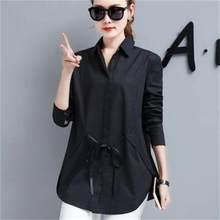 4e369ab6e6 Camisa tamanho grande das mulheres casaco longo-manga 2018 nova primavera  mm de gordura 200