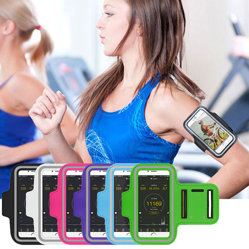 Sport Arm band Case untuk iPhone X XS 11 Pro Max 6 6S 7 8 Plus Cover Untuk iPhone SE 2020 Running Bag sport phone holder clamp