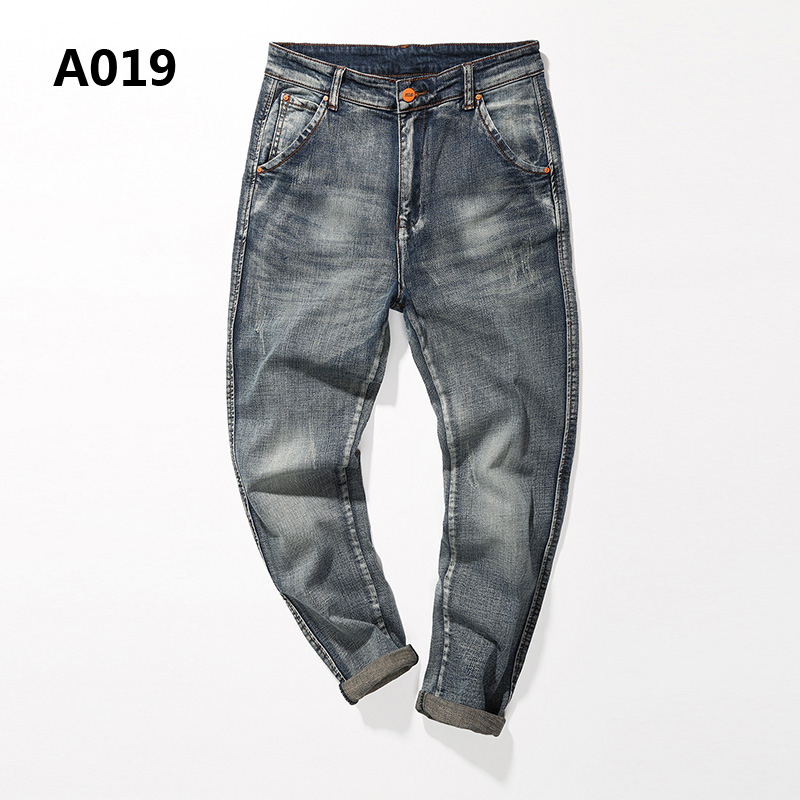 Distressed Mens Harem Jeans Pants Brand Clothing Casual Low Stripe Regular Fit Jeans Men Denim Solid Zipper Trousers Uomo A019 men s cowboy jeans fashion blue jeans pant men plus sizes regular slim fit denim jean pants male high quality brand jeans