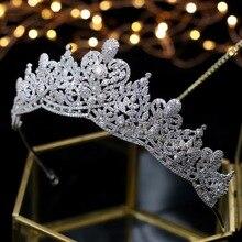 Asnora Tiaras de boda con cristales, tiara nupcial, tiara de Accesorios nupciales para el cabello, nupciales