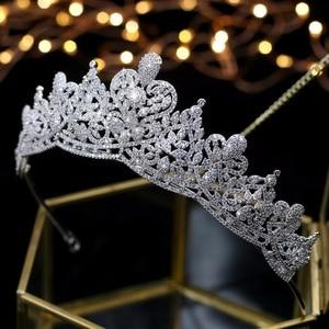 Image 1 - Asnora coroa de noiva คริสตัลงานแต่งงาน Tiaras มงกุฎเจ้าสาวเจ้าสาวอุปกรณ์เสริมผม tiara nupcial
