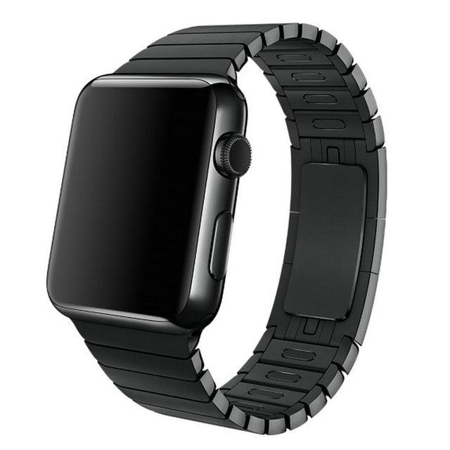 1:1 original espaço preto fecho ligação pulseira de aço inoxidável para a apple watch band strap pulseira para iwatch