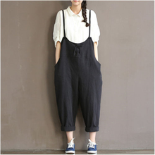 0050e3559094 Ankle-Length Women Loose Suspender Trousers Solid Color Casual High Waist  Overalls Autumn Summer Jumpsuits Female Long Pants