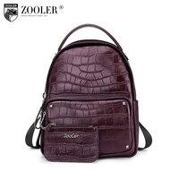 ZOOLER Brand Genuine Leather Backpack Women School Backpacks Female Backpack Leather Pagback Women Handbags Shoulder Bags