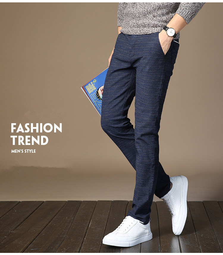 HTB1wNMCsC8YBeNkSnb4q6yevFXaA MRMT 2019 Brand Mens Spring And Summer Casual Pants Men Striped Micro Elastic Straight Trousers
