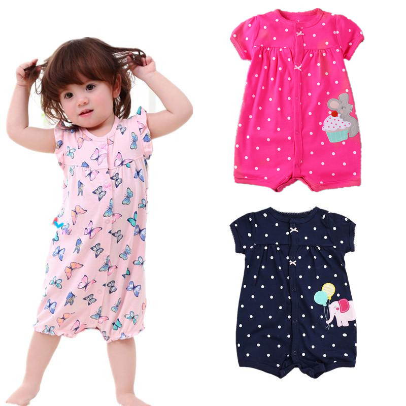 Baby Girl Rompers New Summer Baby Boys Clothes Roupas Bebe Infant Baby Jumpsuits Newborn Baby Clothing Set Cotton Kids Costume summer 2017 navy baby boys rompers infant sailor suit jumpsuit roupas meninos body ropa bebe romper newborn baby boy clothes