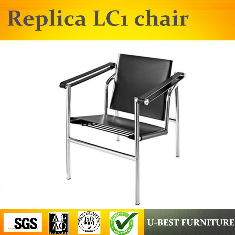 U-BEST Le Corbusier Style LC1 Basculant Sling Chair,Basculant Sling Chair Lounge Chair dg home кушетка le corbusier chaise lounge black