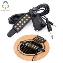 12-otworowa gitara akustyczna dźwięk hole Pickup przetwornik magnetyczny z regulatorem głośności kabel Audio akcesoria gitarowe GYH