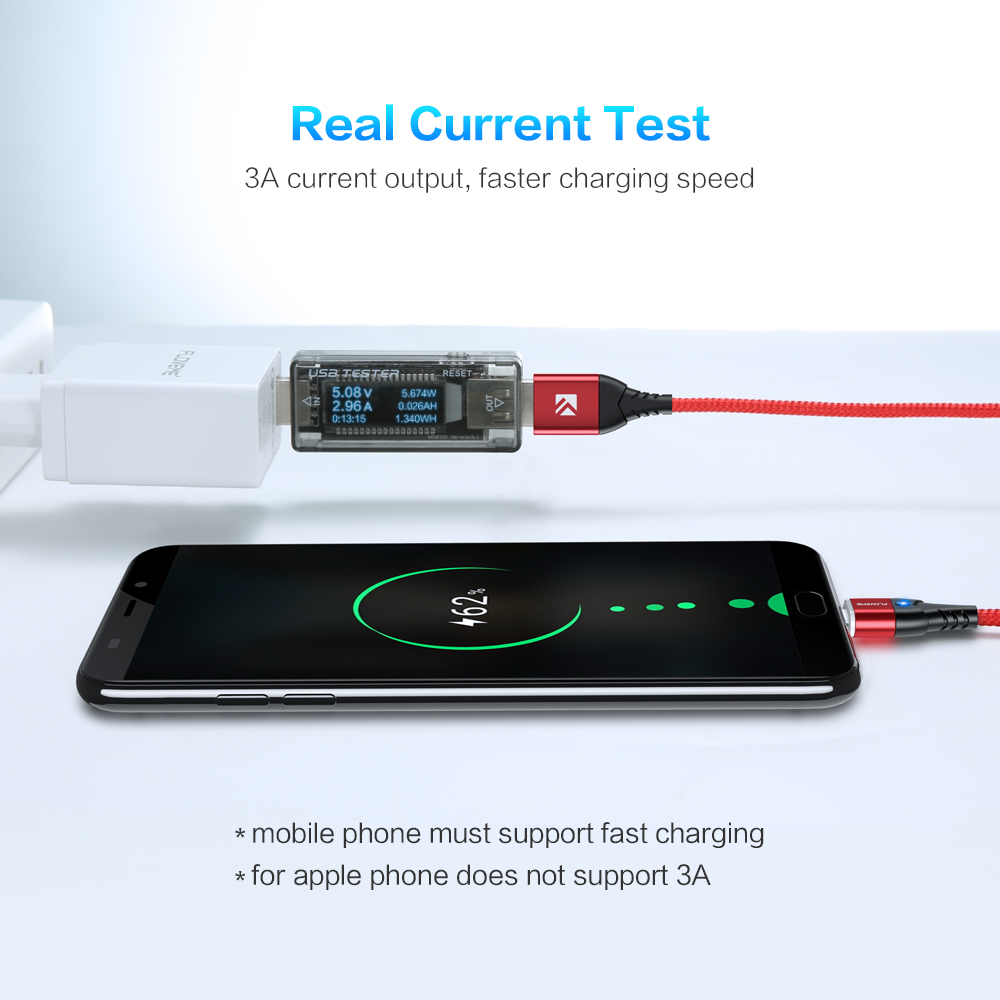 floveme magnetic micro usb type c lightning charging cable for iphone and mobile phones