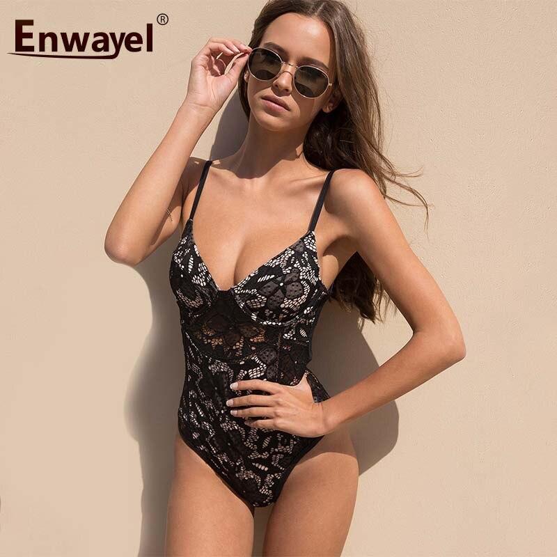 ENWAYE LBrand Summer Beach Playsuit Sleeveless Backless Sexy Party Body Femme Bandage Slim Strap Female Lace Bodysuit For Women