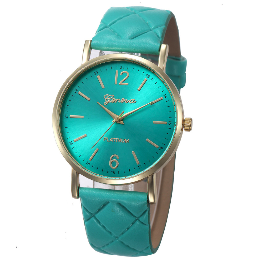 Superior Fashion Women Casual Geneva Roman Leather Band Analog Quartz Wrist Watch relogi ...