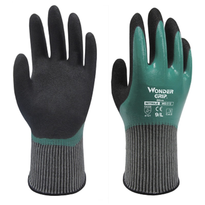 1Pair Rubber Gloves Wear-resistant Work Gloves Waterproof Oilproof Deodorize Mechanic Fishing Assembly Factory Protective Gloves