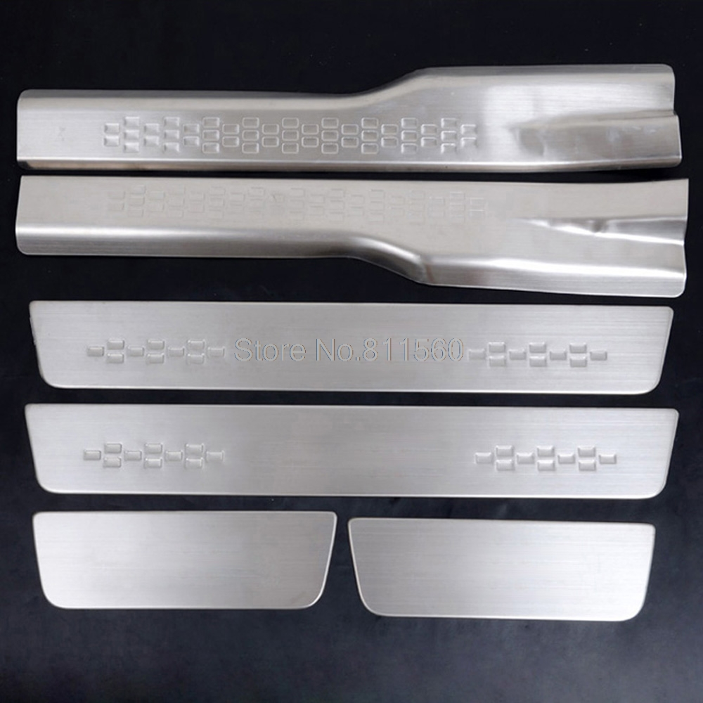 For Mitsubishi ASX 2010-2012 Hatchback 5-door Stainless Steel Inside Scuff Plate Door Sill 6PCS Scuff Plate protector step cover for lexus es250 es300 es350 stainless steel door sill scuff plate step protector cover