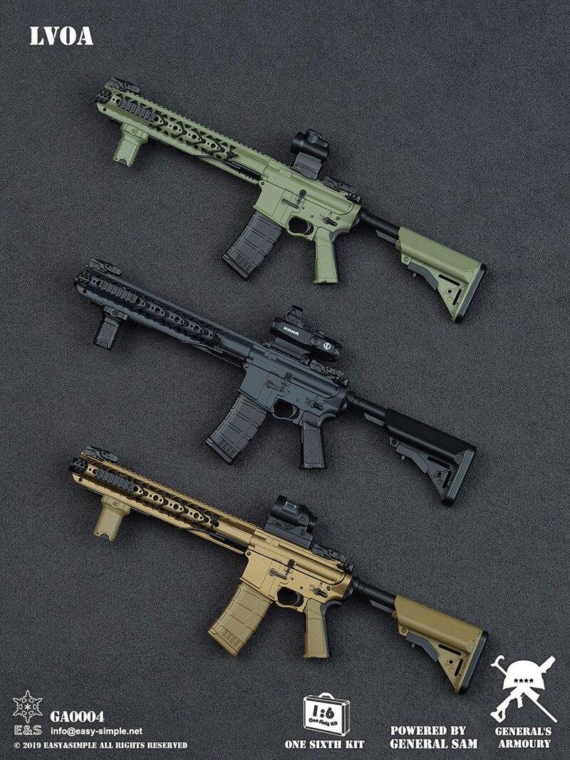 Échelle 1/6 modèle arme jouets 1/6 général pistolet modèle arme ensemble II modèle armes pour 12 pouces figurine d'action militaire