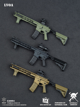 Scale 1/6 Model Weapon Toys 1/6 GENERAL gun model Weapon Set II model guns for 12 inches Military Action Figure