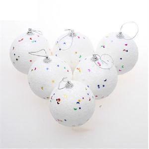 6Pcs Holiday Decoration Snowballs Xmas Tree Hanging ...