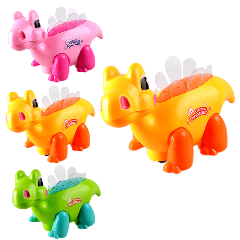Cute Carton LED Projector Dragon Toy Children's Musical Flashing Educational Dancing Toy Lovely Project Toy Random Color