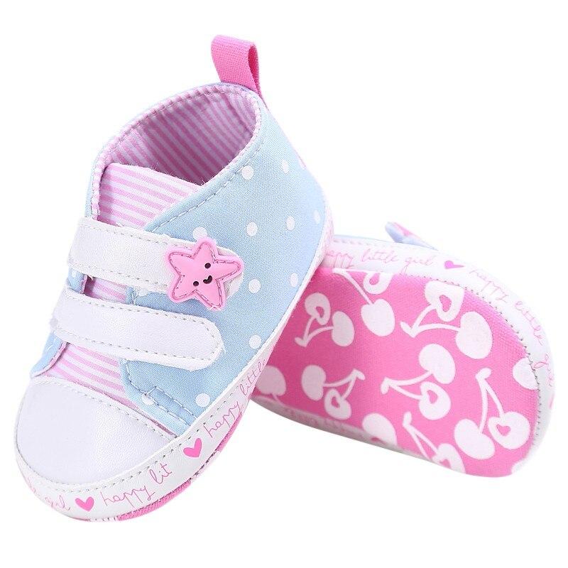 Neue Baby Mode Leinwand Beiläufige Streifen Infant Weiche Lace Up - Babyschuhe - Foto 5