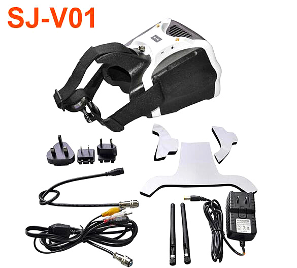 SKYZONE SJ-V01 Glasses Goggles 7 Inch FPV Video 5.8G HD Headset HDMI Bulit-in 40 Channel 5.8GHz Receiver