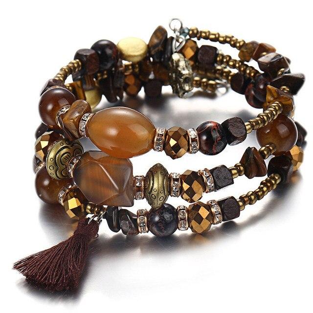 Фото janeyacy винтажные браслеты с кисточками из смолы и камня женский цена