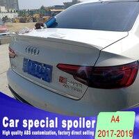 2017 2018 2019 New design For Audi A4 A4L spoiler rear trunk roof spoiler by black white or DIY primer and carbon fiber model