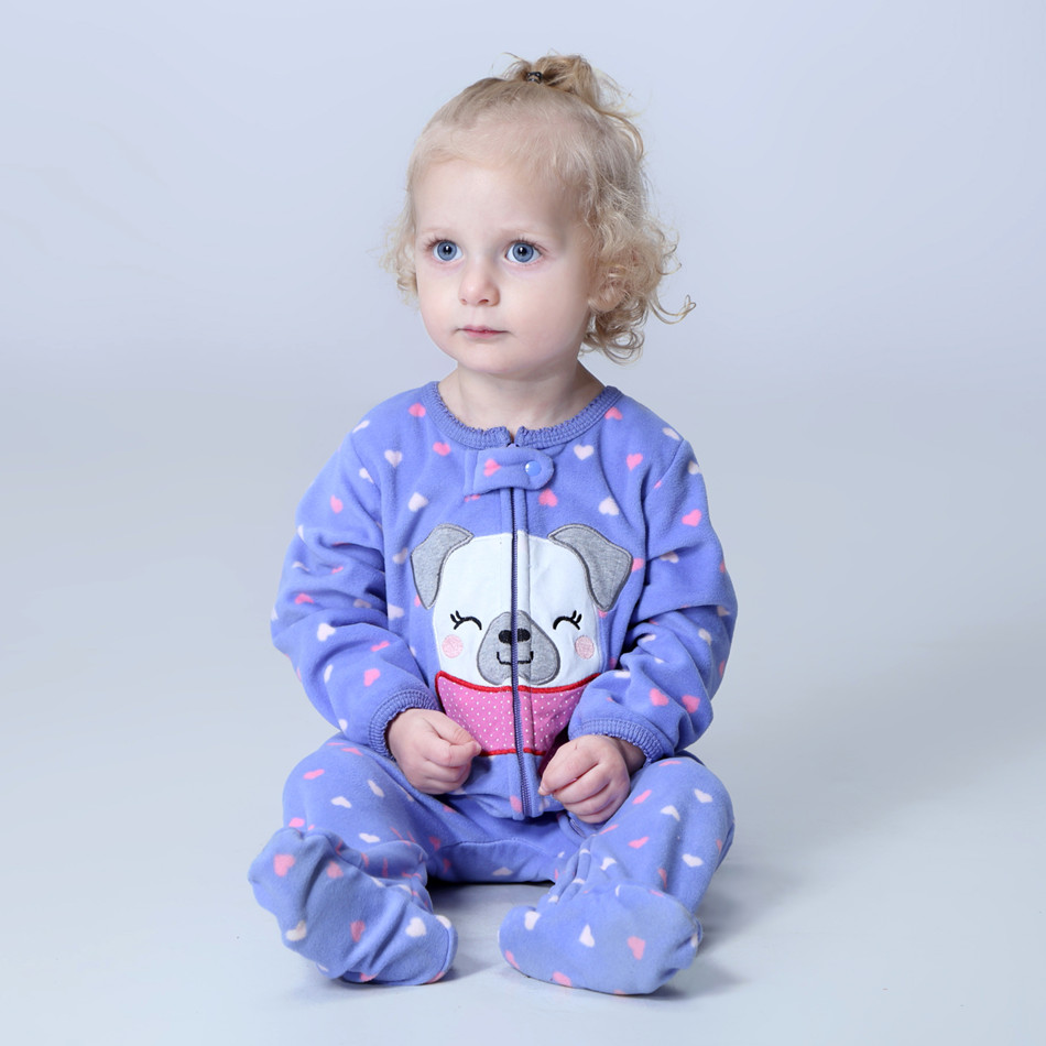 Orangemom official store baby girl clothes ,fleece one pieces jumpsuits soft Pajamas , 0-24M baby clothing baby costumes romper