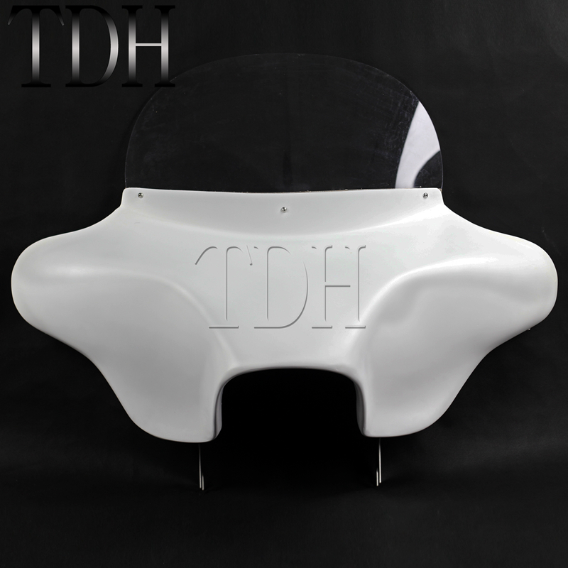 Motorcycle White Detachable Batwing Fairing 6x9 Speakers For Harley Road King Eagle EFI FLHR Custom Classic CVO 1994-2013Motorcycle White Detachable Batwing Fairing 6x9 Speakers For Harley Road King Eagle EFI FLHR Custom Classic CVO 1994-2013
