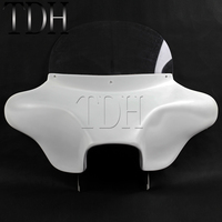 Motorcycle White Detachable Batwing Fairing 6x9 Speakers For Harley Road King Eagle EFI FLHR Custom Classic CVO 1994 2013