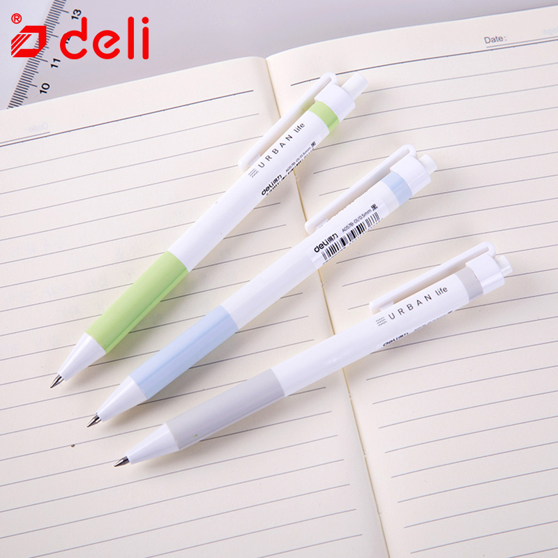 Deli 12pcs gel pen 0.5mm smooth writing gel-ink pen cute Kawaii black ink pens for student stationery school & office supplies 3pcs set kacogreen liquid ink gel pen plastic student office writing pens black blue red ink school supplies stationery
