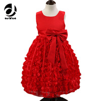 2 6T Baby Frocks Party Wear 2017 Fashion Party Dress Infant Princess Deguisement With Bow Children