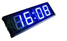 Gorący bubel 12 24 H niebieski ekran o wysokiej jasności pilot zdalnego sterowania 4 cal 4 cyfrowy do montażu na ścianie zegarek LED (HIT4-4B) tanie tanio DIGITAL Luminova Zegary ścienne 490mm NoEnName_Null Metal Plac 160mm 2000g