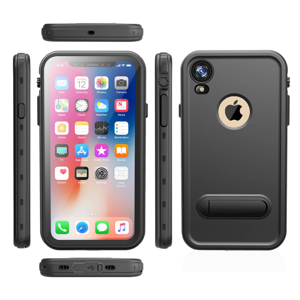 new product 78c98 6b652 US $15.94 20% OFF|Original Brand IP68 Waterproof Case for Apple iPhone XR  XS Kickstand Shockproof Dust Proof Protective case for iPhone XS Max-in ...