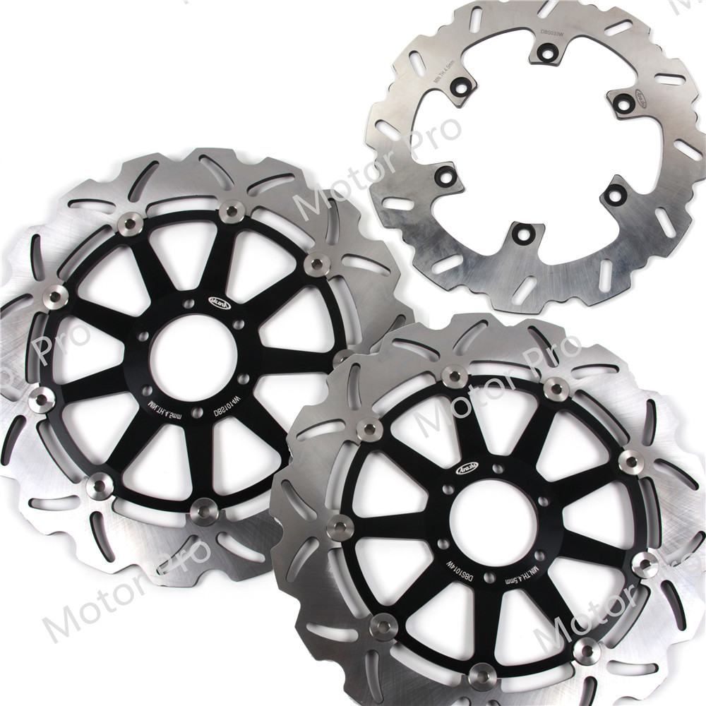 For Yamaha XJR 1200 1995 1996 1997 Front Rear Brake Disc Disk Rotor Kit Motorcycle FZR1000 FZR 1000 EXUP GENESIS XJR 1200 BLACK
