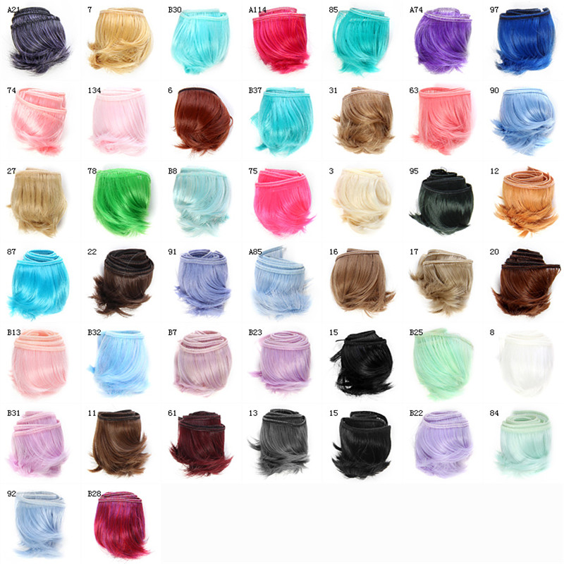 15 Colors 5x100cm Doll Wig Fringe Doll Hair DIY Wig Black Blown Khaki for BJD SD 1/3 1/4 1/6 Handmade Doll Bang Doll Accessories