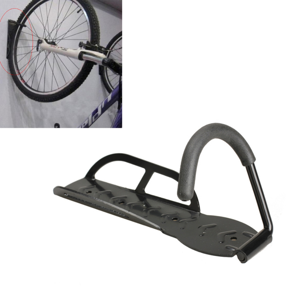 Black Steel Bicycle Stand Wall Holder Bike Storage Rack Stand Steel Hook Hanger