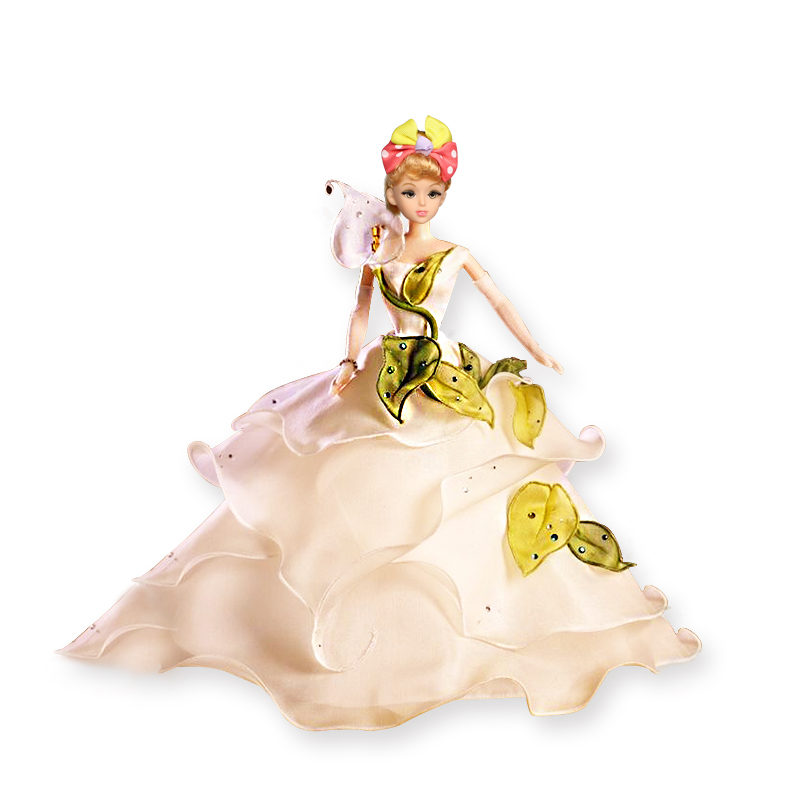 Lovely Food Grade Plastic Doll Model wedding decoration Cake Mold for DIY Doll Dress Sugarcraft Fondant Cake Decorating Tools in Cake Decorating Supplies from Home Garden