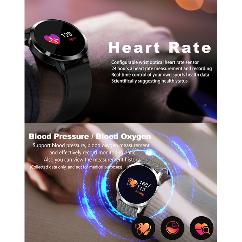 Fitness Smart Watch Men Women OLED Screen Heart Rate Monitor Blood Pressure Touch Pedometer Health Sport Watch For Android IOS 2