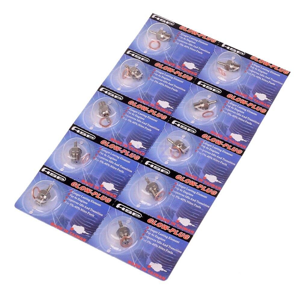 10pcs 70117 N3 Nitro Glow Plug VX SH GO 16 18 21 28 Methanol Engine 02060 Fit 1/8 1/10 HSP HPI Traxxas 94122 94166 94188 94762