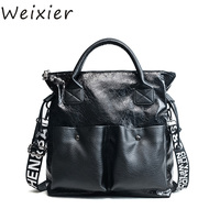 WEIXIER 2019 Fashion Ladies Handbag New Large Capacity Women Bags Casual Totes Women Shopping Bags Girls Female Shoulder LY 55