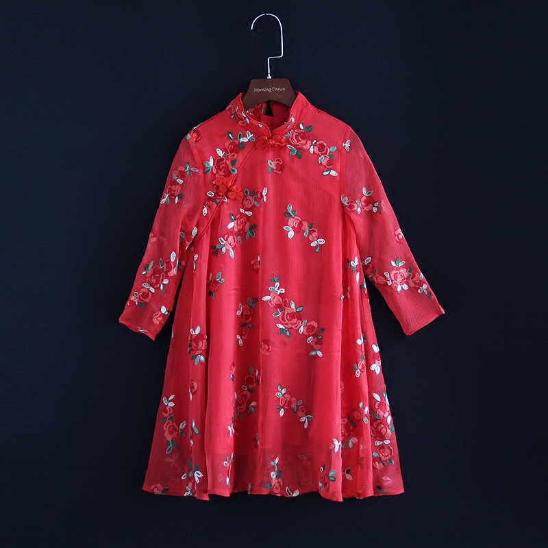 primavera vestido criancas da familia de mae e filha combinando bordado chines vestido de criancas meninas