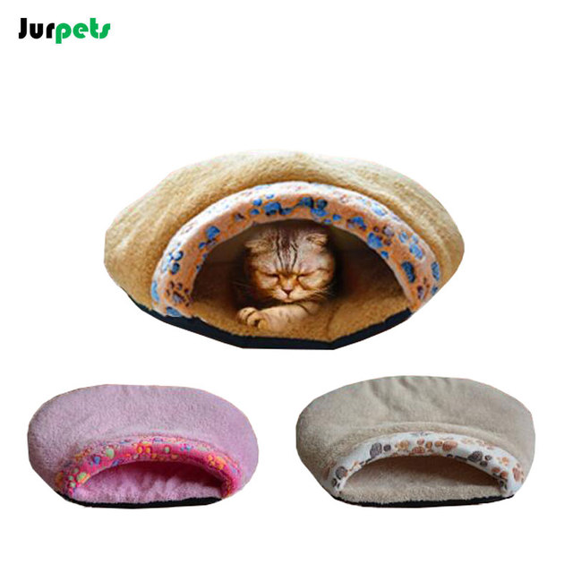 Claw Printed Cat Sleeping Bag Cotton Lining Super Soft Small Dogs Waterproof Nonslip